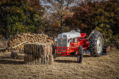 Old Ford Tractor Poster by Doug Long
