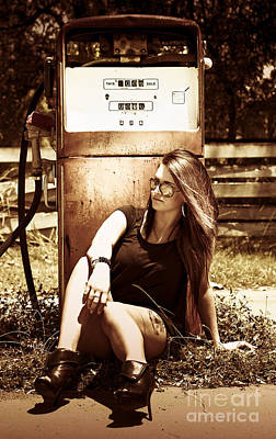 Old Gas Pump Poster