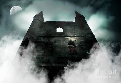 Old Haunted Castle Poster