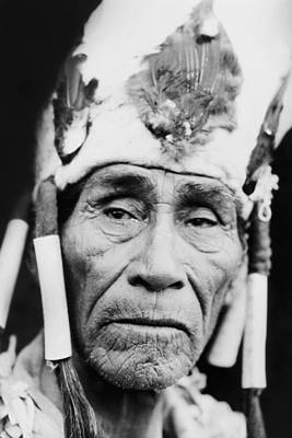 Old Klamath Man Circa 1923 Poster by Aged Pixel