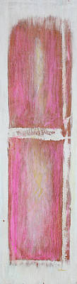 Old Pink Kitchen Door Emanating Light Poster by Asha Carolyn Young