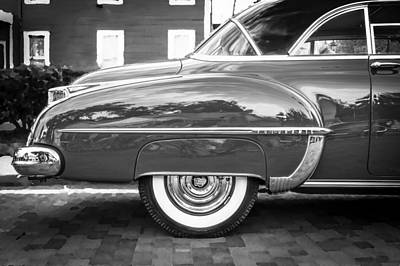 Oldsmobile 88 Futurmatic Coupe Bw  Poster by Rich Franco
