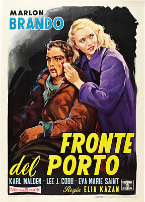 On The Waterfront Aka Fronte Del Porto Poster by Everett