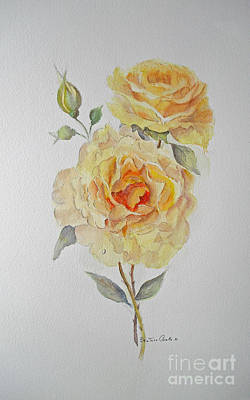 Poster featuring the painting One Rose Or Two by Beatrice Cloake