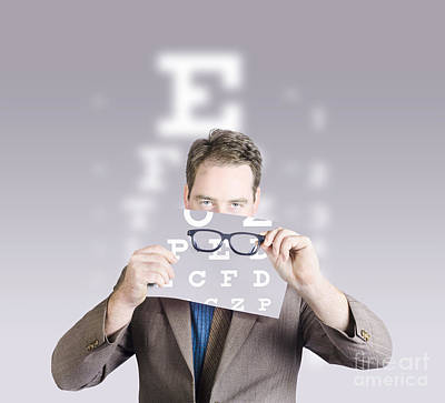 Optometrist Or Vision Doctor Holding Eye Glasses Poster by Jorgo Photography - Wall Art Gallery