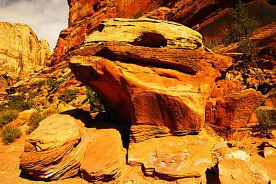 Orange Rock Poster by Jeff Swan