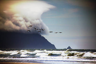 Poster featuring the photograph Oregon Coast  by Aaron Berg