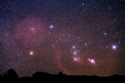 Orion Nebulae From The Canary Islands Poster
