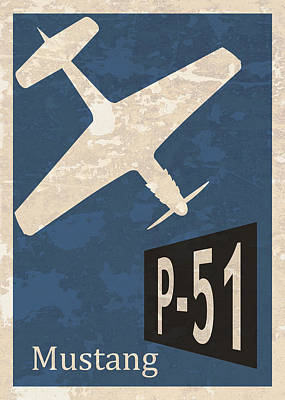 P-51 Mustang Poster by Mark Rogan