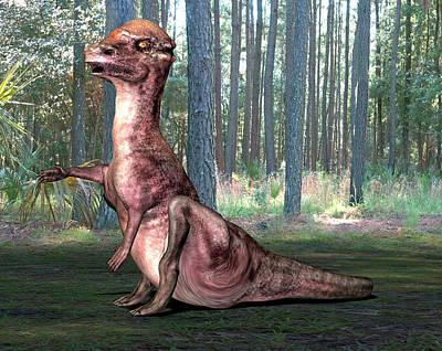 Pachysaurus Dinosaur Poster by Friedrich Saurer