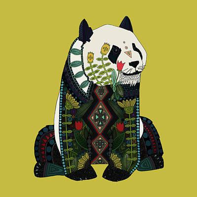 Panda Ochre Poster