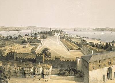 Panorama Of Constantinople, Plate 22 Poster by Gaspard Fossati