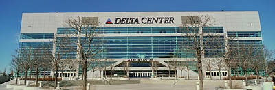 Panoramic Of Delta Center Building Poster