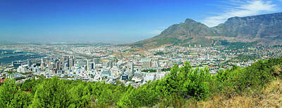 Panoramic View Of Cape Town And Table Poster