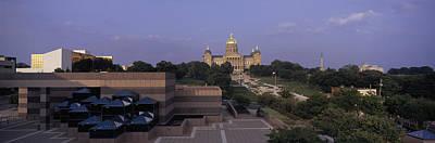 Panoramic View Of Iowa State Capitol Poster