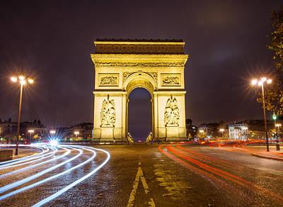 Paris France Arc De Triumphe Poster by Cory Dewald