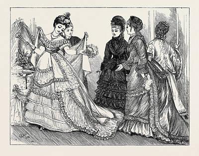 Paris Fashions, 1870 Poster