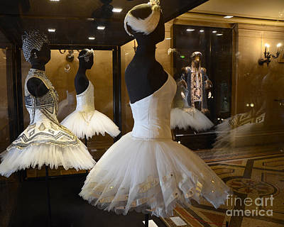 Paris Opera House Ballerina Costumes - Paris Opera Garnier Ballet Art - Ballerina Fashion Tutu Art Poster by Kathy Fornal