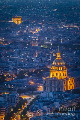Paris Overhead Poster by Brian Jannsen