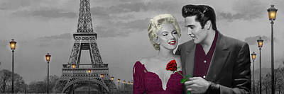 Paris Sunset Poster by Chris Consani