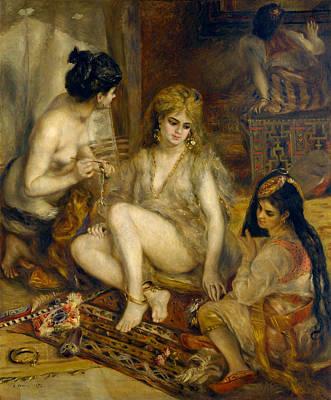 Parisiennes In Algerian Costume Or Harem  Poster by Pierre-Auguste Renoir