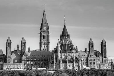 Parliament Buildings Of Canada  Ottawa Poster by David Chapman