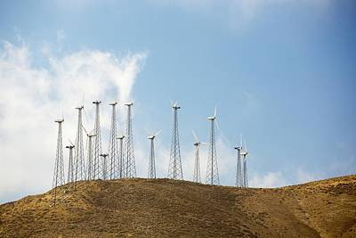 Part Of The Tehachapi Pass Wind Farm Poster by Ashley Cooper