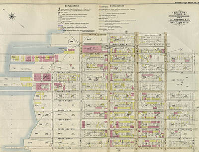 Part Of Ward 8. Land Map Section, No. 3, Volume 1 Poster
