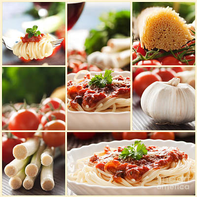 Pasta Collage Poster by Mythja  Photography