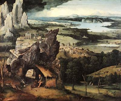 Patinir, Joachim 1480-1524. Landscape Poster by Everett