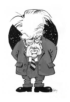 Patrick Moore, British Astronomer Poster by Gary Brown