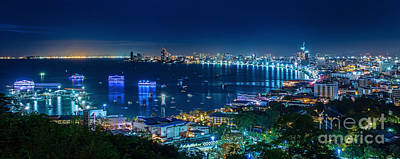 Pattaya City  Poster by Anek Suwannaphoom