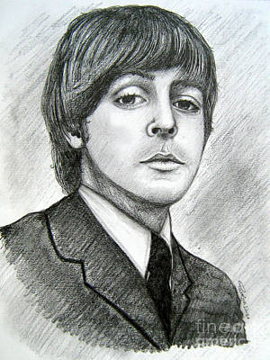 Poster featuring the drawing Paul Mccartney by Patrice Torrillo