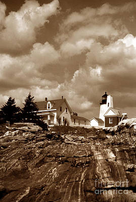 Pemaquid In Sepia Poster by Skip Willits
