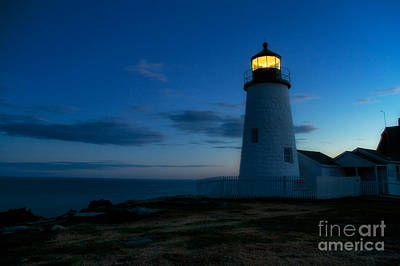 Pemaquid Point Lighthouse Bristol Maine Poster by Mel Ashar