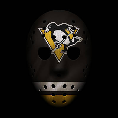 Penguins Jersey Mask Poster