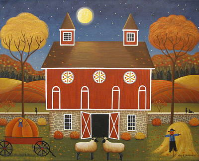 Pennsylvania Dutch Hex Barn Poster by Mary Charles