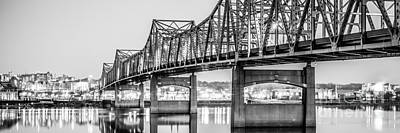 Peoria Illinois Bridge Panoramic Picture Poster by Paul Velgos