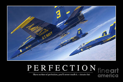 Perfection Inspirational Quote Poster