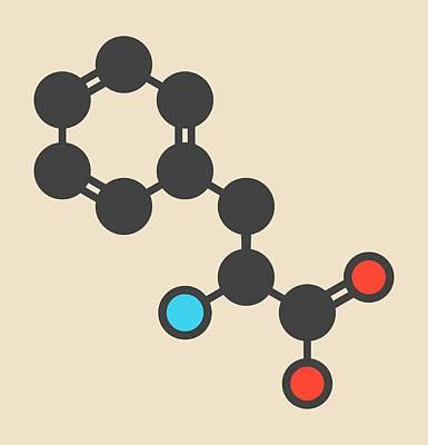 Phenylalanine Amino Acid Molecule Poster by Molekuul