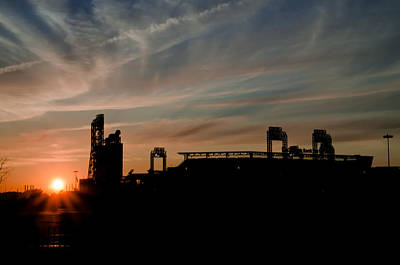 Phillies Stadium At Dawn Poster by Bill Cannon