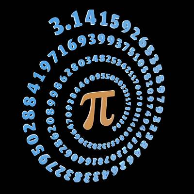 Pi Symbol And Number Poster by Alfred Pasieka