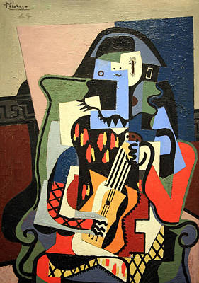 Picasso's Harlequin Musician Poster