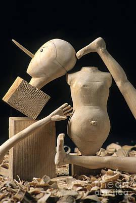 Pieces Of Wood Puppet Poster by Bernard Jaubert