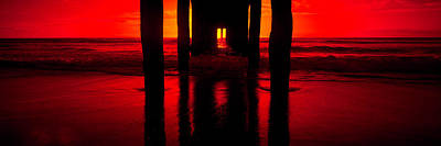 Pier In The Pacific Ocean, Manhattan Poster by Panoramic Images