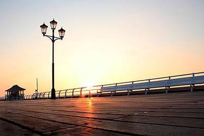 Pier Sunrise Poster