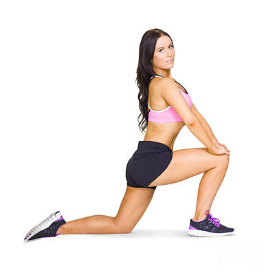 Pilates And Yoga Instructor Warming Up  Poster