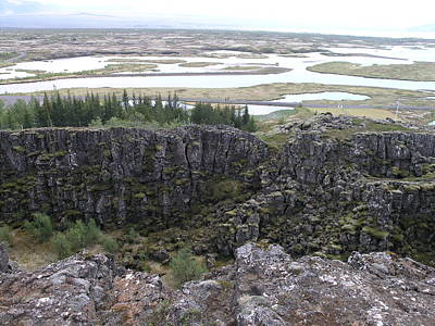 Poster featuring the photograph Pingvellir by Christian Zesewitz