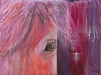 Poster featuring the painting Pink Pony by Cathy Long