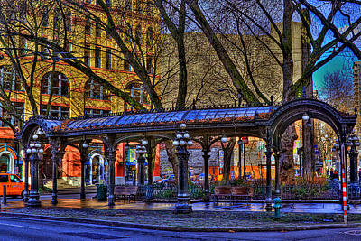 Pioneer Square - Seattle Poster by David Patterson